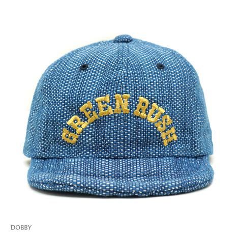【GO HEMP】GREEN RUSH 6PANEL CAP / COLLAGE JACQUARD & DOBBY DENIM