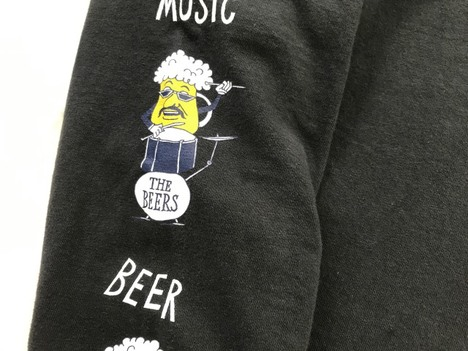 "【FREE RAGE】""BEER"" リサイクルコットンロンTee"