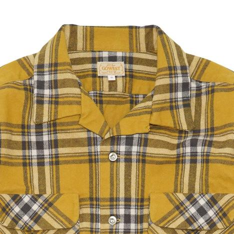 【GO WEST】OUT OF BORDER SHIRTS/Fleece Lined Heavy Twill Check