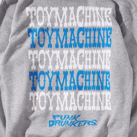 【PUNK DRUNKERS】xTOY MACHINE MONSTERxあいつパーカ