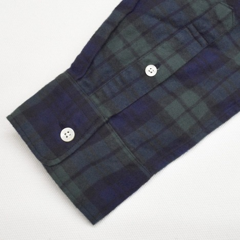 【SONTAKU】柔らかタータンネルBDシャツ