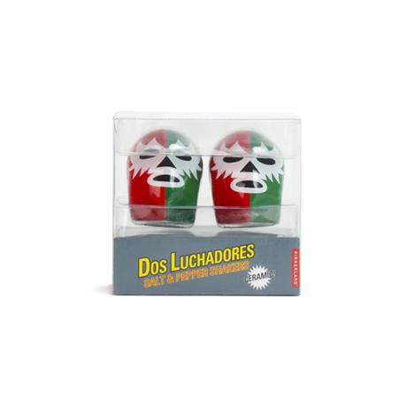 【KIKKERLAND】Dos Luchadores Salt&Pepper Shakers