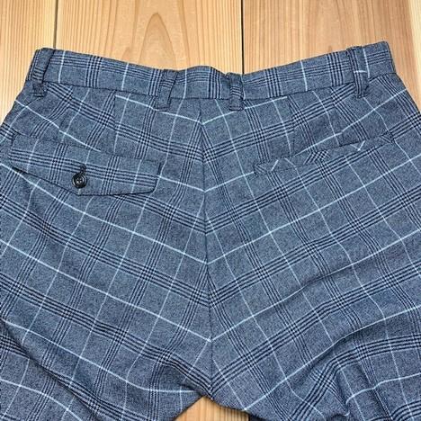【LiSS】CHECK STRETCH SLACKS PANTS