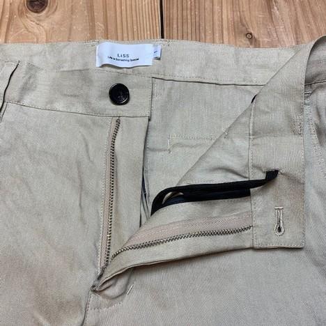 【LiSS】STRETCH LINEN SLACKS PANTS