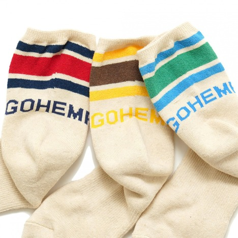 【GO HEMP】GOHEMP LOGO PILE QUARTER SOCKS /×ANONYMOUSISM