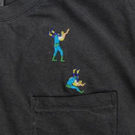 """【HAOMING】""""POWER BOMB"""" Pocket Tshirt"""
