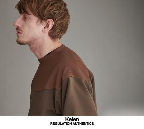 【Kelen】SIDE ZIP BI COLOR TOP TAURUS