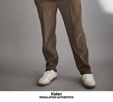 【Kelen】SIDE ZIP PIN TUCK PANTS SCOUT