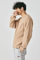【MAGIC NUMBER】SHAGGY YARN CREW KNIT