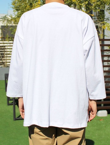【Goodwear】USAコットン切替7分袖 FOOTBALL BIG TEE