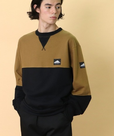 【MOUNTAIN SMITH】GRANBY RECYCLED CREW BI-COLOR