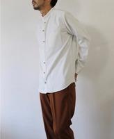 【LiSS】スタンドカラー ストライプシャツ