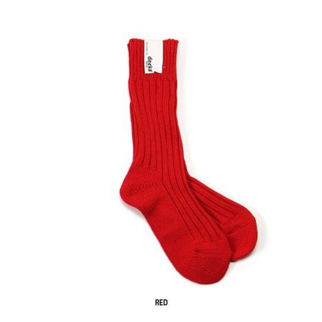 【decka】Cased Heavyweight Plain Socks