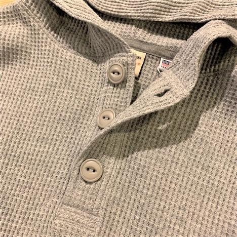 【Goodwear】USAコットンワッフルヘンリーBIGフーディー
