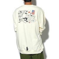 【CHARI&COxHANAI YUSUKE】MECHANIC SPACE CREWNECK SWEATS