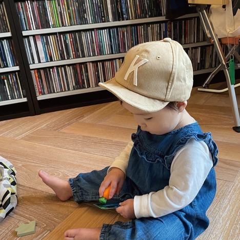 【Little Grin Buddy】Baby Sim Logo Cap