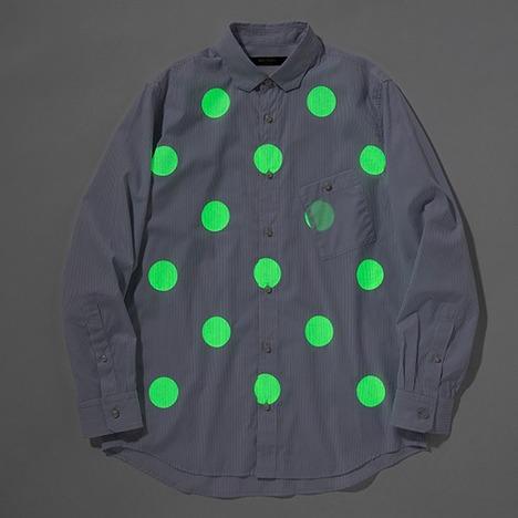 【narifuri】蓄光プリントシャツ