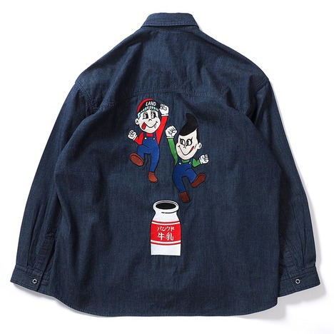 【PUNK DRUNKERSxLAND by MILKBOY】ブラザーズデニムシャツ