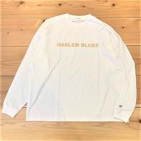 【HARLEM BLUES】HB LOGO WIDE L/S TEE