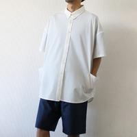 【LiSS】シアサッカーストレッチオーバーサイズシャツ