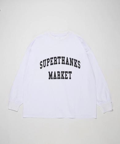 【SUPERTHANKS】カレッジロゴプリントビッグシルエットロンT