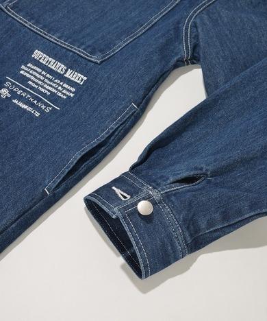 【SUPERTHANKS】オーバーサイズデニムシャツジャケット
