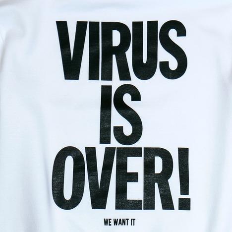 """【O.K.】""""VIRUS IS OVER!"""" SWEAT HOODIE"""