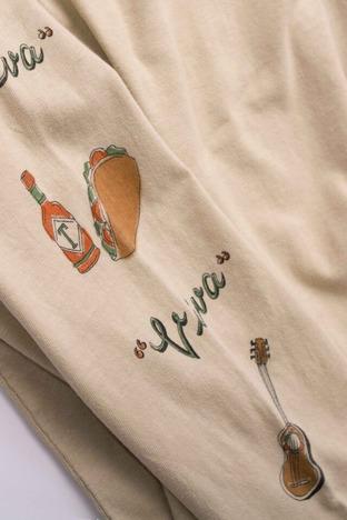 "【FREE RAGE】""Mexicanfood"" リサイクルコットンロンTee"