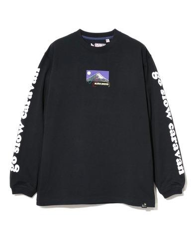 【go slow caravan】超ヘビーUSA/C 富士山ルート刺繍 ロングスリーブTEE