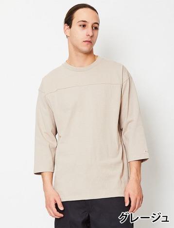 【Goodwear】USAコットン切替7分袖TEE