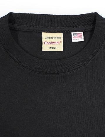 【Goodwear】USAコットン袖リブBIGポケットロンTEE