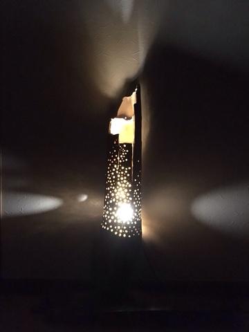 大型竹流木ランプ