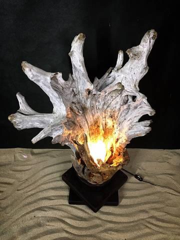 流木artランプ