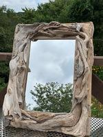 流木フレーム鏡