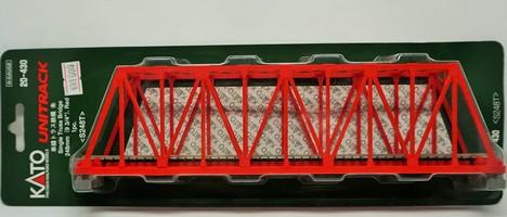単線トラス鉄橋 朱 248mm レール付き