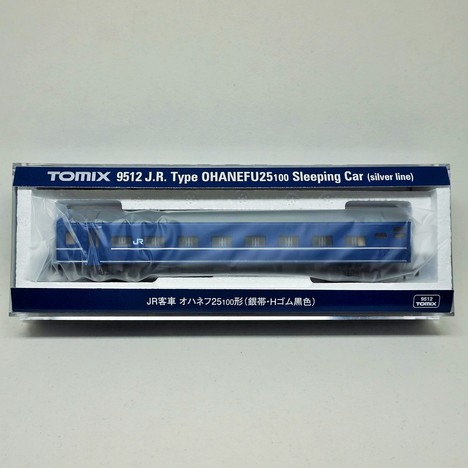 JR客車 オハネフ25-100形 (銀帯・Hゴム黒色)