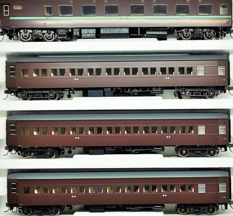 限定品HO 国鉄 10_32形寝台客車(茶色セット4両