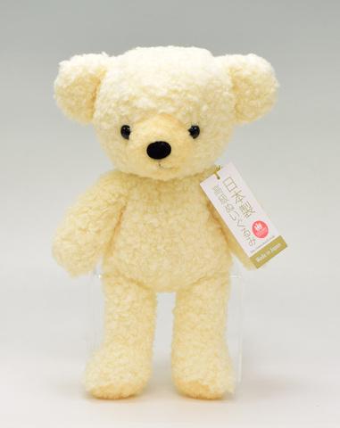 クマのぬいぐるみ フカフカMクリーム29cm(日本製)
