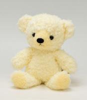 クマのぬいぐるみフカフカSクリーム21cm(日本製)