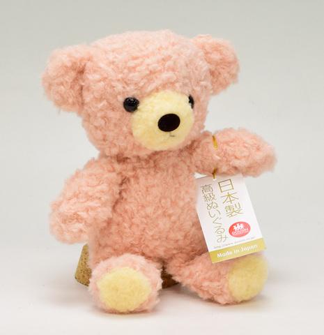 クマのぬいぐるみ フカフカSローズ21cm(日本製)