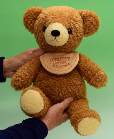 クマのフカフカLブラウン40cm(日本製)
