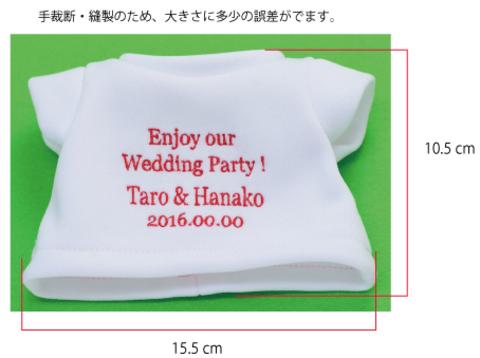 名入れ 刺しゅう 贈り物、記念日に 名入れ付・Tシャツ 単体・送料込み