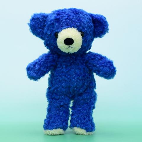 クマのぬいぐるみフカフカSクラシックブルー21cm(日本製)