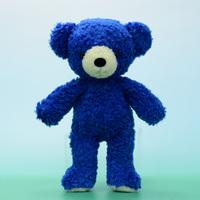 クマのぬいぐるみ フカフカM クラシックブルー29cm(日本製)