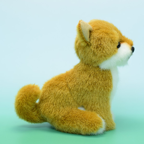 日本製リアル・柴犬座り 18cmH