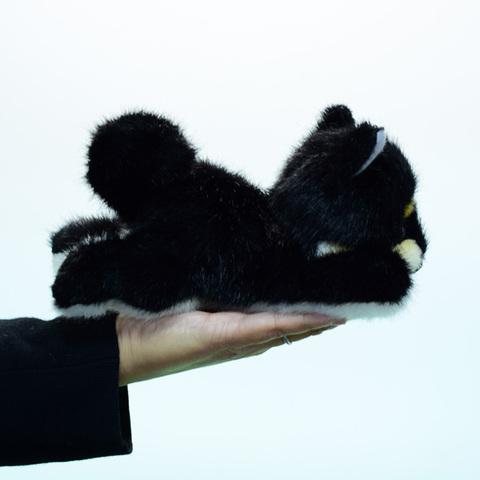日本製リアル・クロ柴犬這い 20cmW