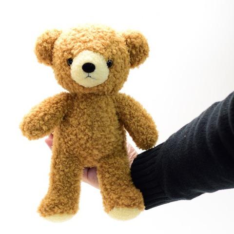 クマのぬいぐるみフカフカNEW・Mブラウン29cm(日本製)