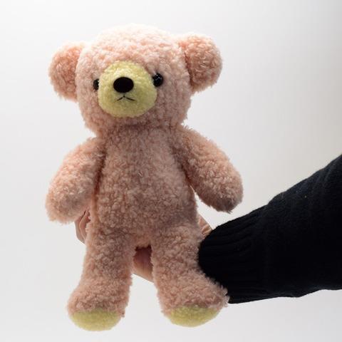 クマのぬいぐるみフカフカNEW・Mローズ29cm(日本製)