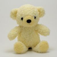 クマのぬいぐるみフカフカNEW・Sクリーム21cm(日本製)