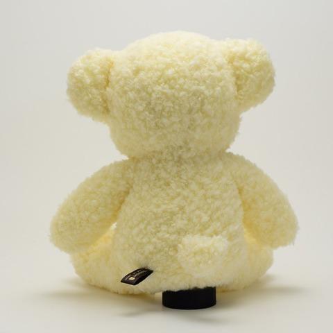 クマのぬいぐるみフカフカNEW・Mクリーム29cm(日本製)
